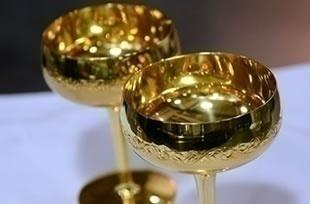 SGC提供純金シャンパングラス