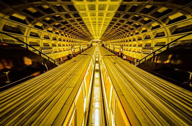 gold metro ワシントンdc地下鉄 ワンダーゴールド ゴールドフォト